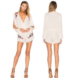 LOVER & FRIENDS Adriana Floral Romper Playsuit \ L